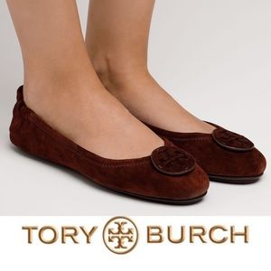 Tory Burch • Minnie Travel Ballet Flats • Suede